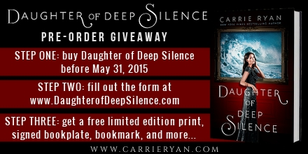 Daughter of Deep Silence pre-order giveaway details